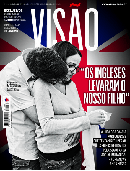 Press Visao Magazine Cover Centrefold article on our story