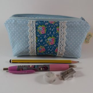 Blue Romantic Small Pouch